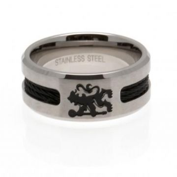 Chelsea FC Ring with Black Inlay - Medium